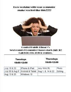 Summer 2019 Computer Classes