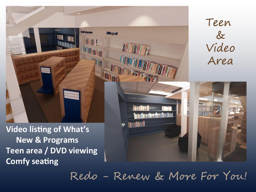 New teen / video area